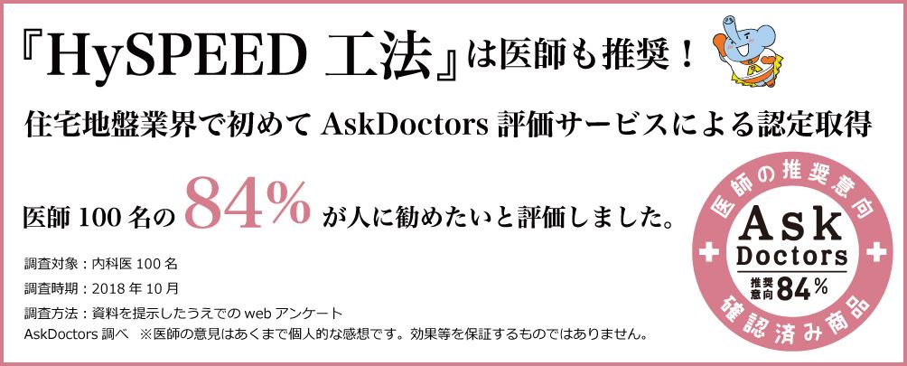 医師が推奨するHySPEED工法